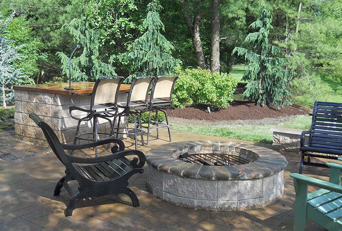 Fire Pits: Pathway Paver Sitting Area