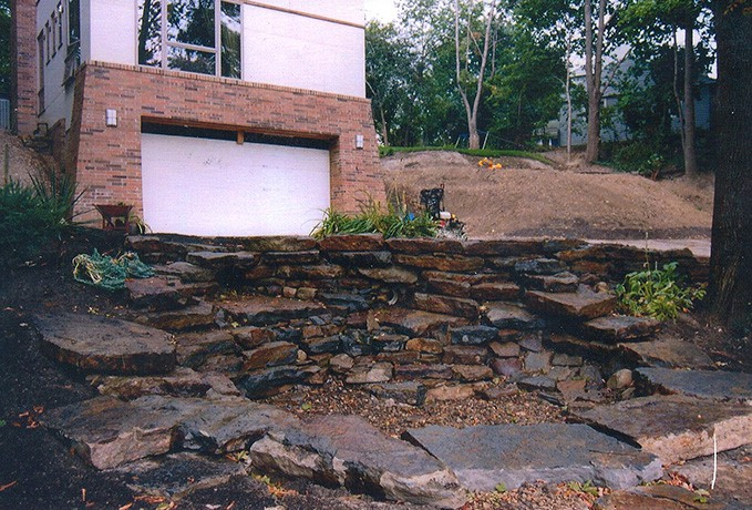 Landscape Yard Makeover: Retaining Wall Stair System