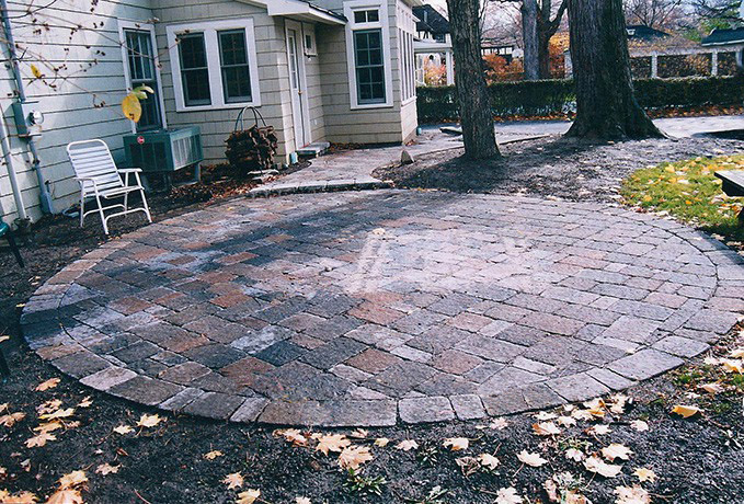 Patio and Walkways: Tumbled Pavers