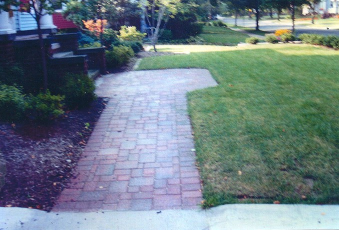 Patio and Walkways: Non Tumbled Pavers
