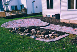 Patio and Walkways: Tumbled Paver Walkway