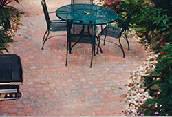 Patio and Walkways: Non Tumbled Private Sitting Area