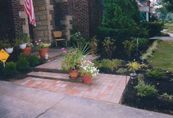 Patio and Walkways: Traditional Red Brick Patio